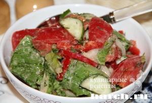 Салат из свежих овощей Глехурад