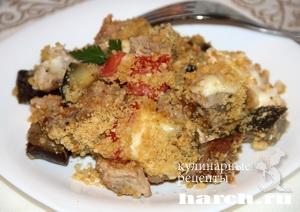 Свинина с овощами и сухарной крошкой по бирмингемски