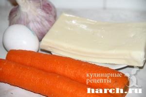 Морковные котлеты с брынзой