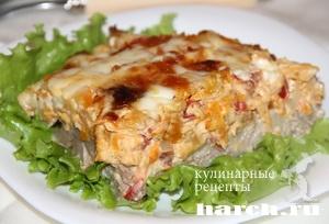 Свинина, запеченная с овощами и сыром Осенний вальс