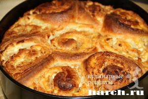 Творожный пирог с яблоками Розалия