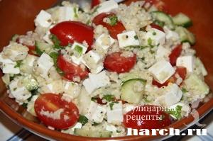 Салат из пшена с фетой по киприотски