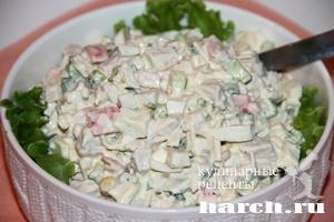 Салат из крабовых палочек с курицей Ярмарка