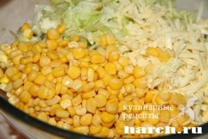 рецепт салата с курицей и копченым мясом