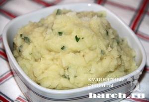 Картофельное пюре с чесночным маслом