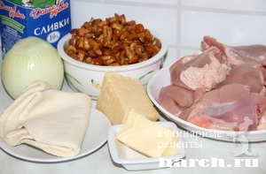 Кобблер с курицей и грибами