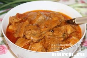Мясо в пикантном соусе по краковски