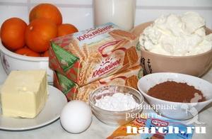Апельсиново шоколадный чизкейк