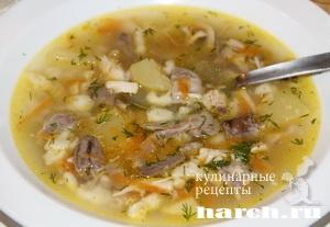 Куриный суп с потрошками по немецки