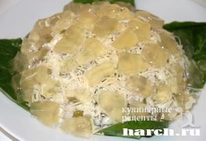 Салат с курицей Хрустальный