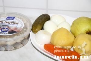Салат с сельдью Русский барин