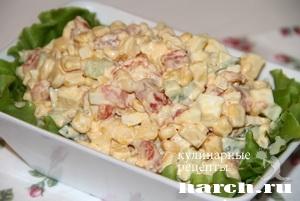Салат из красной рыбы с кукурузой Морской огород