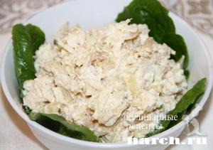 Салат с курицей и жареным картофелем Бахор