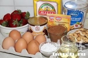 Шоколадный торт с клубникой Ольга