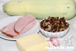 Закусочные кабачки с маринованными опятами
