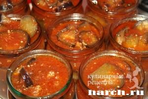 Баклажаны в томатном соусе Нежные