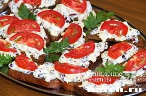 Бутерброды с фасолью Фаворит
