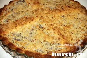 Фруктово ягодный пирог Четыре угла