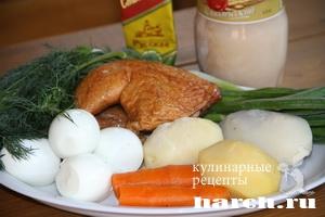 Окрошка с копченой курицей Задонская
