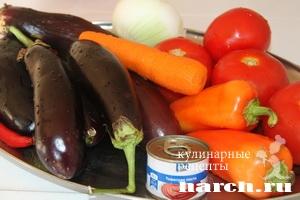Овощное соте по корейски