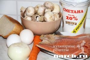 Рыбное суфле с грибами