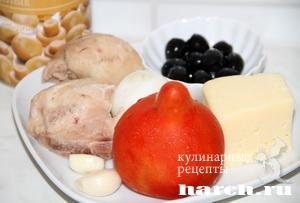 Салат из курицы с помидорами и грибами Галина