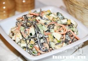 Салат из морской капусты со свежим огурцом Карусель