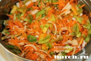 дунайский салат из зеленых помидор