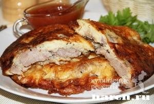 Свинина в картофельно кабачковом кляре
