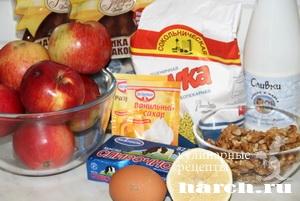 Арабский яблочный пирог с маком