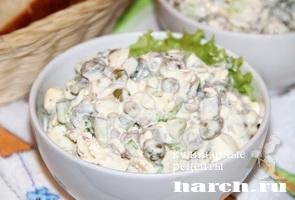 Салат из говяжьего сердца с горошком Свердловский