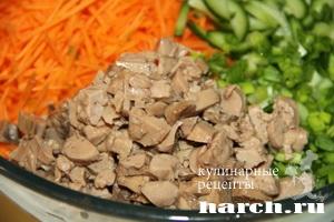 Салат с пекинской капустой с печенью трески рецепт