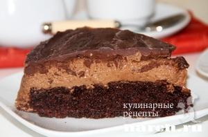 Шоколадно кремовый торт мусс Лидия