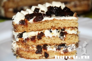 Торт с черносливом и орехами Француз