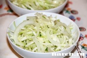 Капустный салат с зеленой редькой
