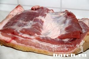 Рулет из свиного брюшка по украински