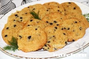 Сырное печенье с маслинами по французски