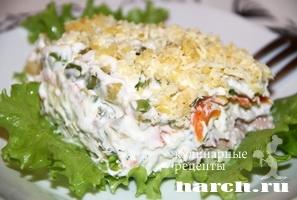 Салат с печенью трески  iamcookru