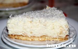 Кокосовый торт суфле Снежная королева