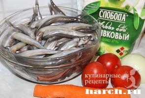 Мойва, запеченная с овощами