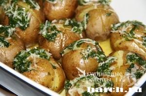 Молодой картофель с чесночным маслом