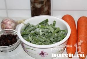 Салат с зеленой фасолью Лисья нора