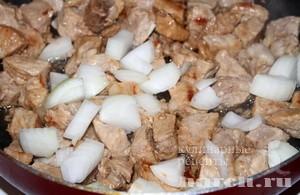 Мясо по абхазски Шкворчащая сковорода