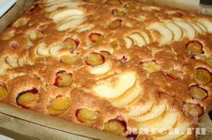 Пирог фруктово ягодный с орехами