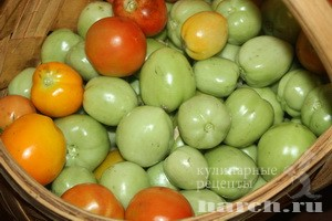 Зеленые помидоры в маринаде