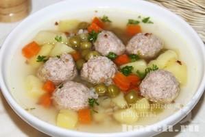 Гречневый суп с фрикадельками Настюша
