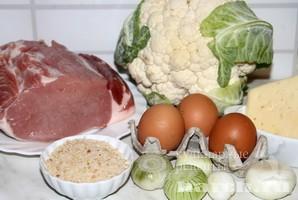 Свинина, запеченная с цветной капустой Ордынская