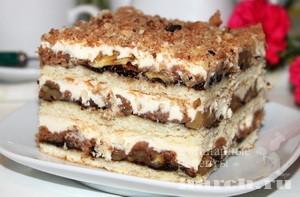 Торт с орехами и джемом