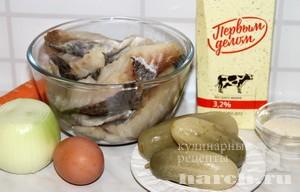 Рыбные котлеты с солеными огурцами Нижегородские