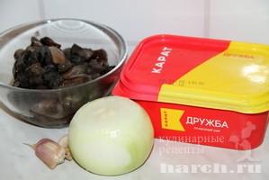 Сырная паста с лесными грибами